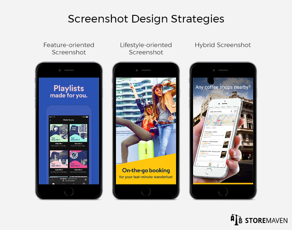 Three Screenshot Design Strategies