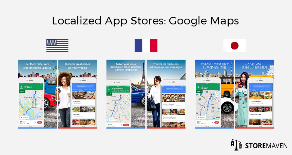 Localized App Stores: Google Maps