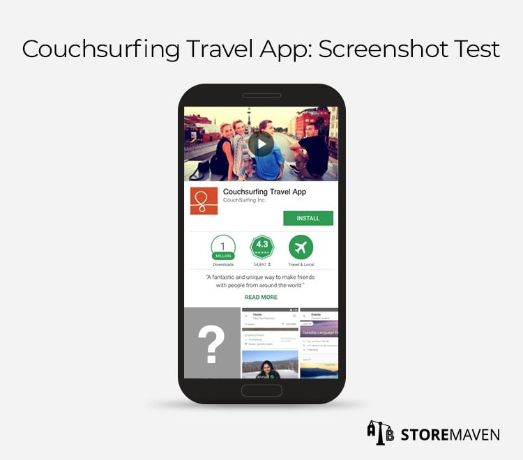 Google Experiments A/B Test: Couchsurfing Travel App