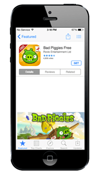 Mixed app store page