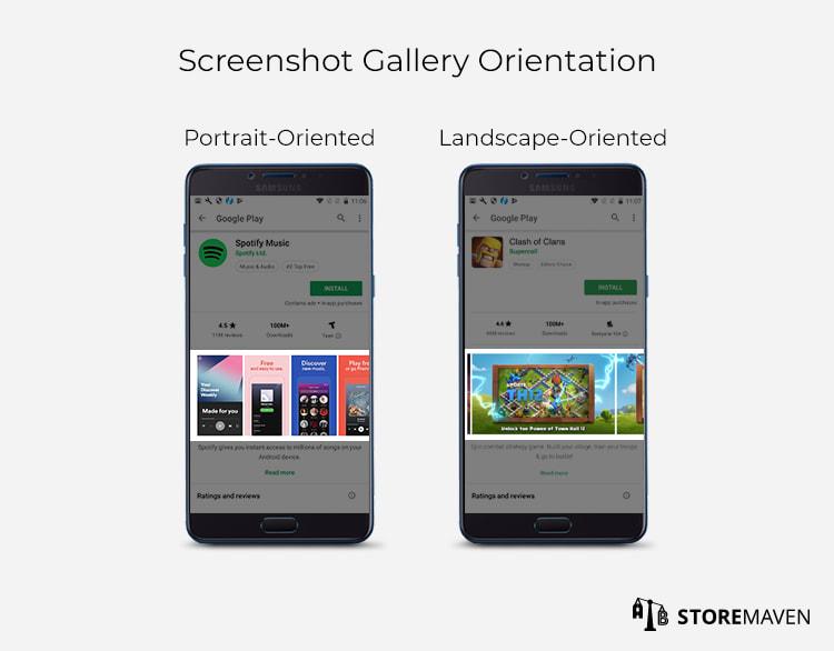 Screenshot Gallery Orientation