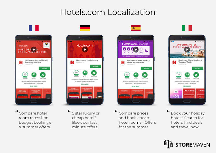 hotels.com localization and culturalization screenshot examples for apps