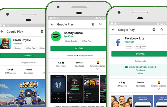 new Google Play store screenshots