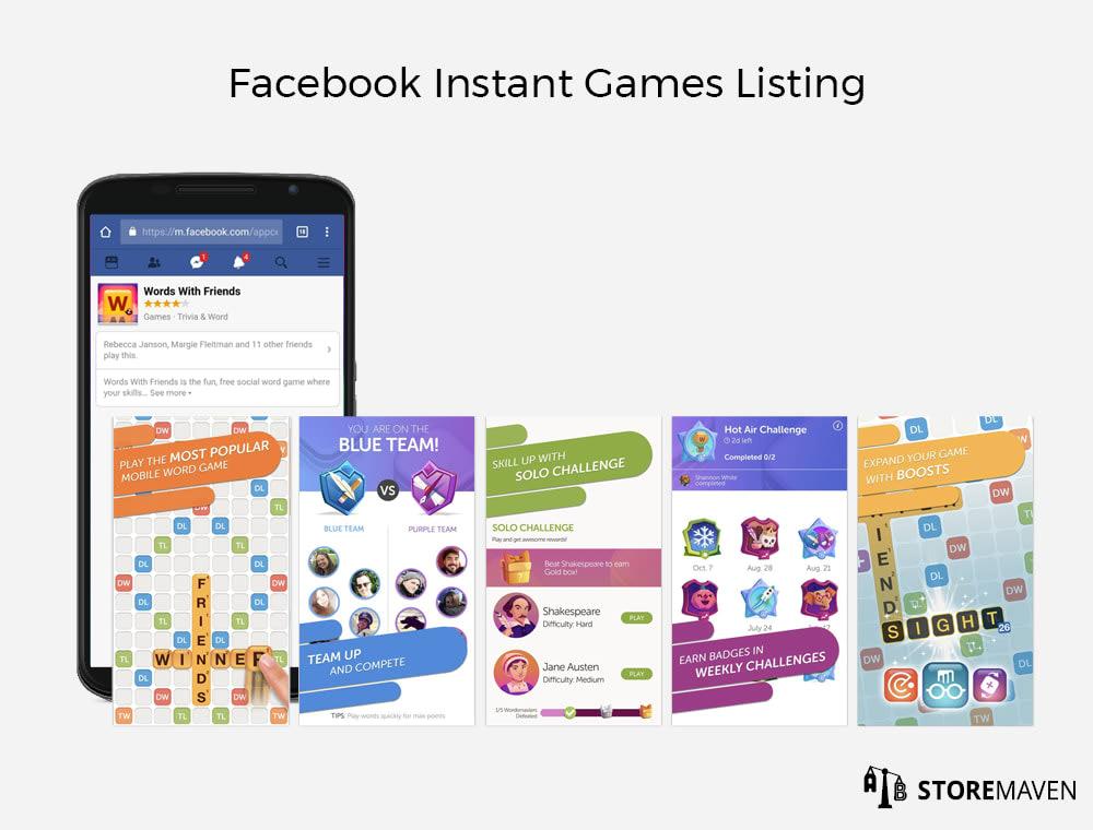 FaceBook Instant Games Listing