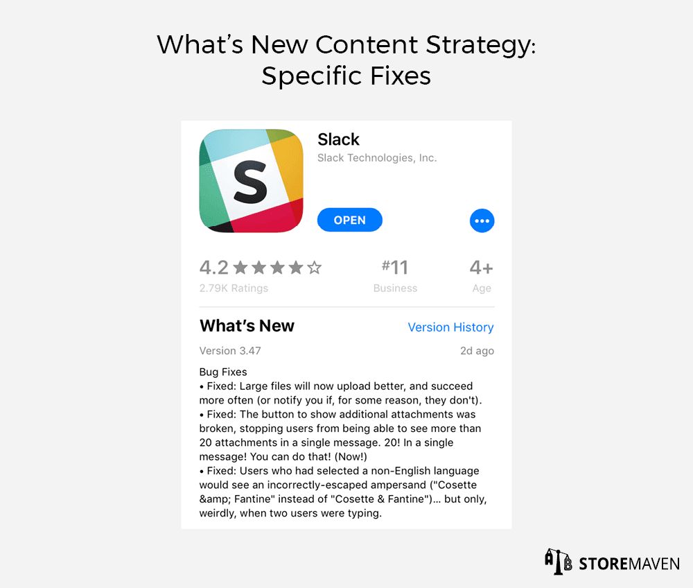 What's New Content Strategy: Specific Fixes