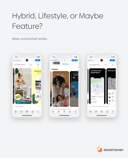 App screenshot styles