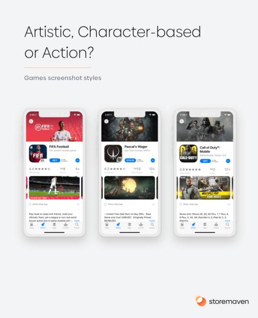 App Games screenshot styles