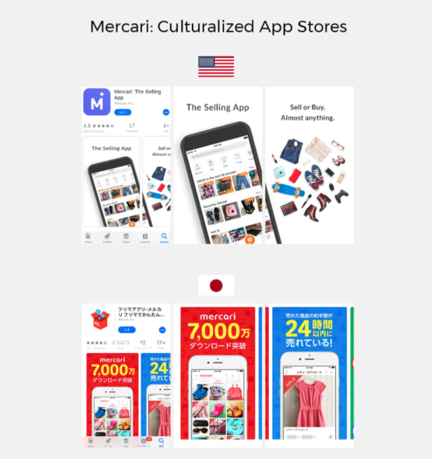Mercari: Culturalized App Stores