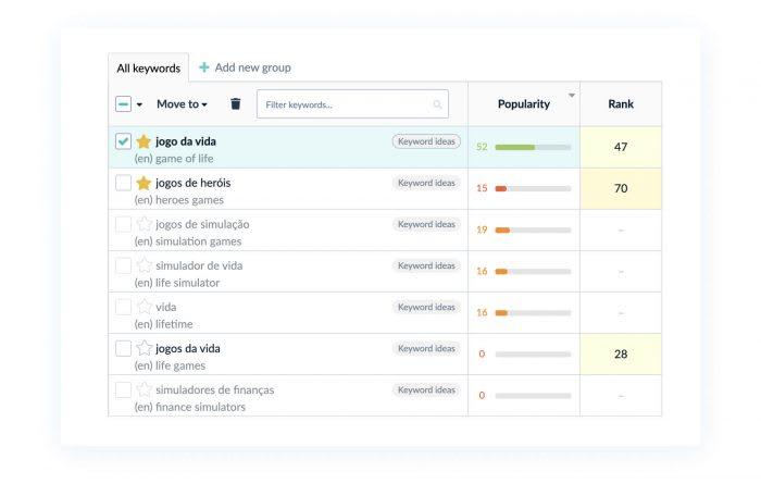 AppFollow Keyword Research tool