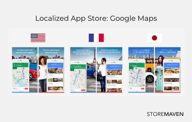 Localized App Store: Google Maps