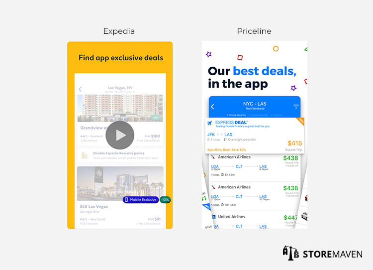 Expedia and Priceline app Example