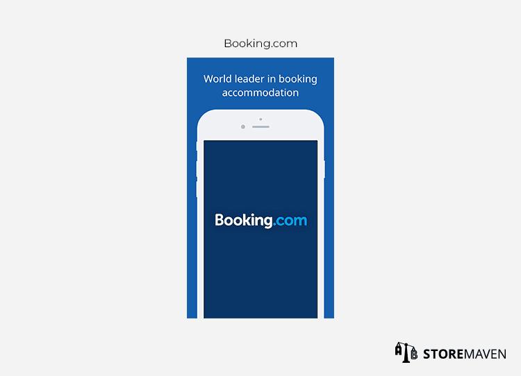 Booking.com app example