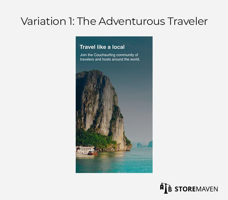 Variation 1: The Adventures Traveler