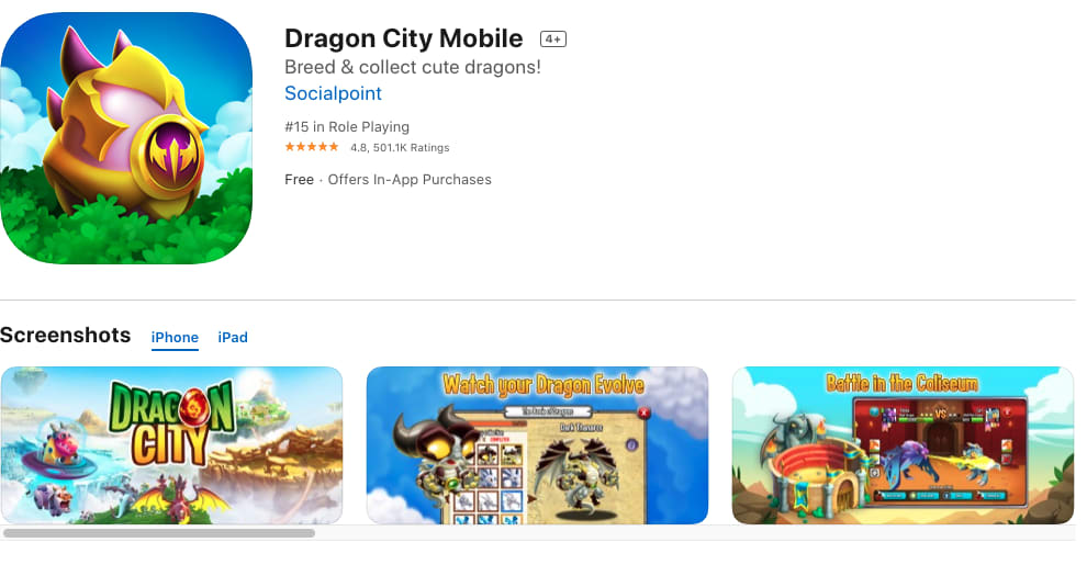 Dragon City Mobile App