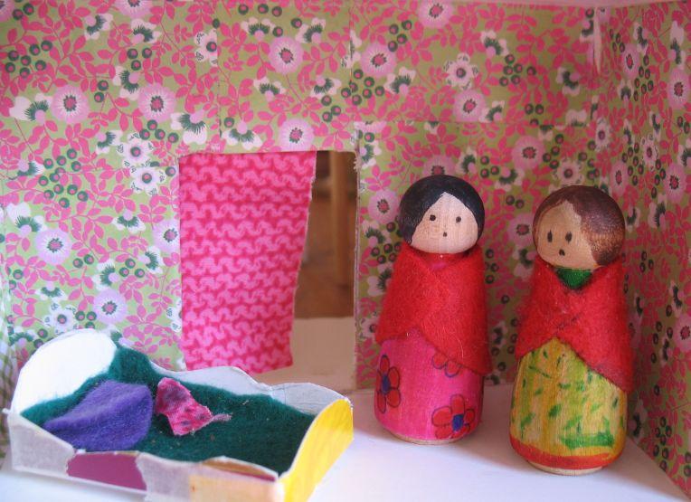 peg doll house