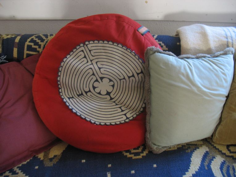 storytelling hut labyrinth cushion emerson college