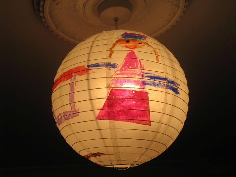 decorated lampshade