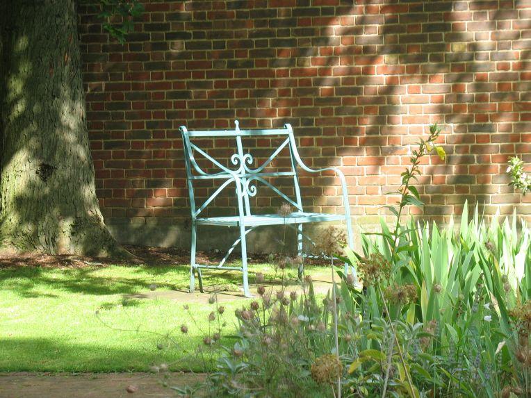 seat in Geffrye Museum garden