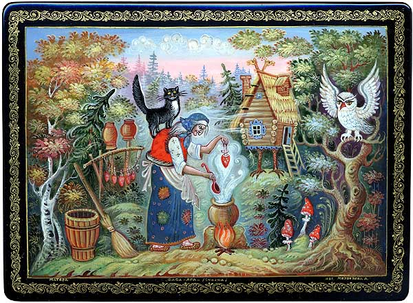 Baba Yaga and her Hut in the Woods - (source unknown)