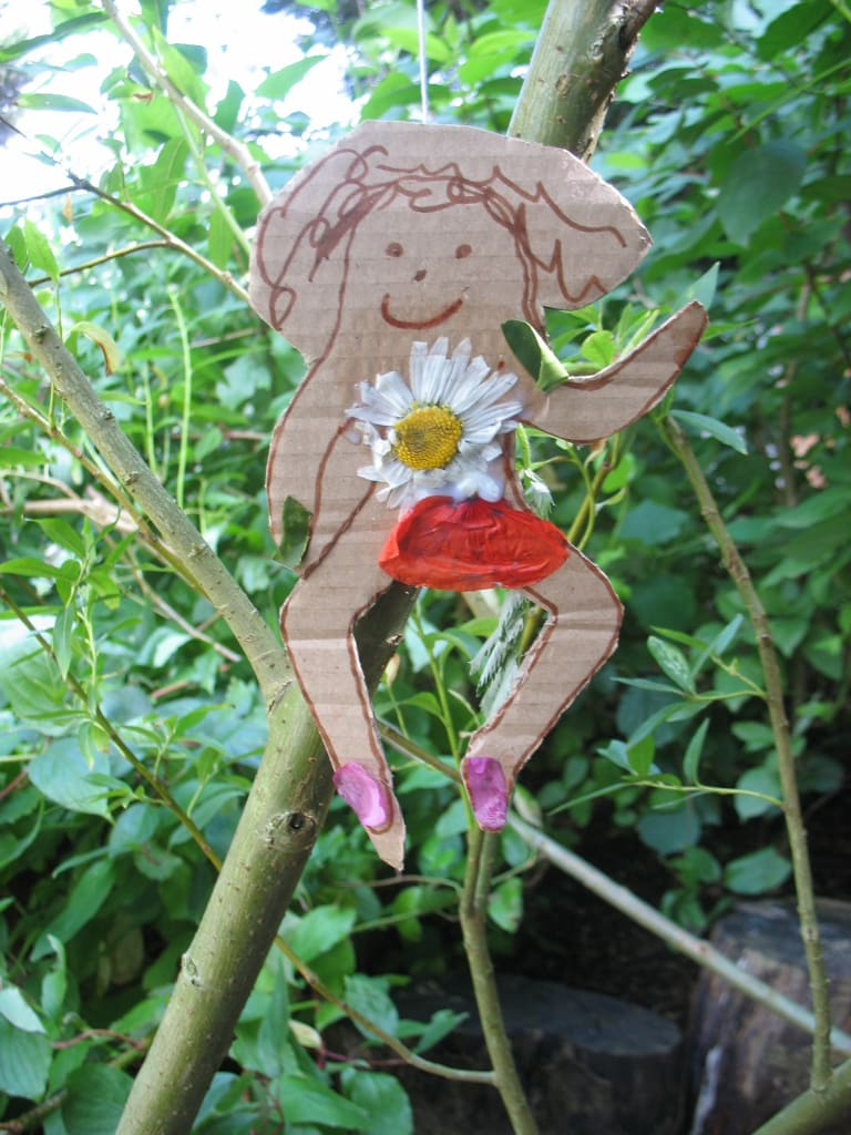 fairy with poppy petal skirt