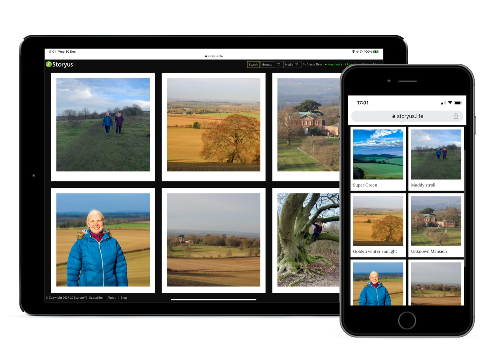 New Polaroid gallery - looking great on screens both big and small