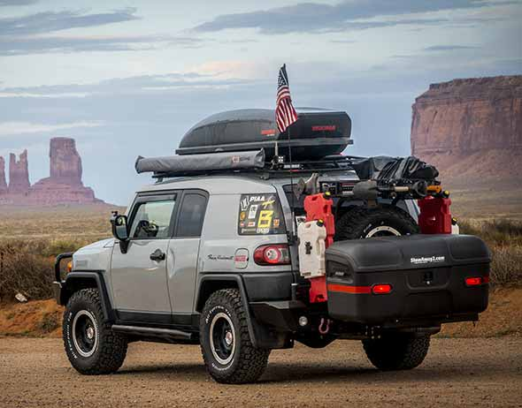 Toyota FJ Cruiser with StowAway MAX Hitch Cargo Box