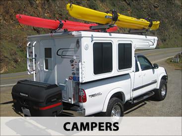 StowAway Standard Cargo Carrier on camper