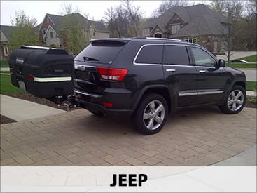 StowAway MAX Cargo Carrier on Jeep