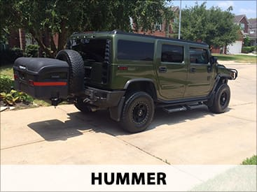 StowAway MAX Cargo Carrier on Hummer