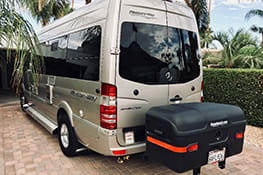 Stowaway cargo carrier on Mercedes van