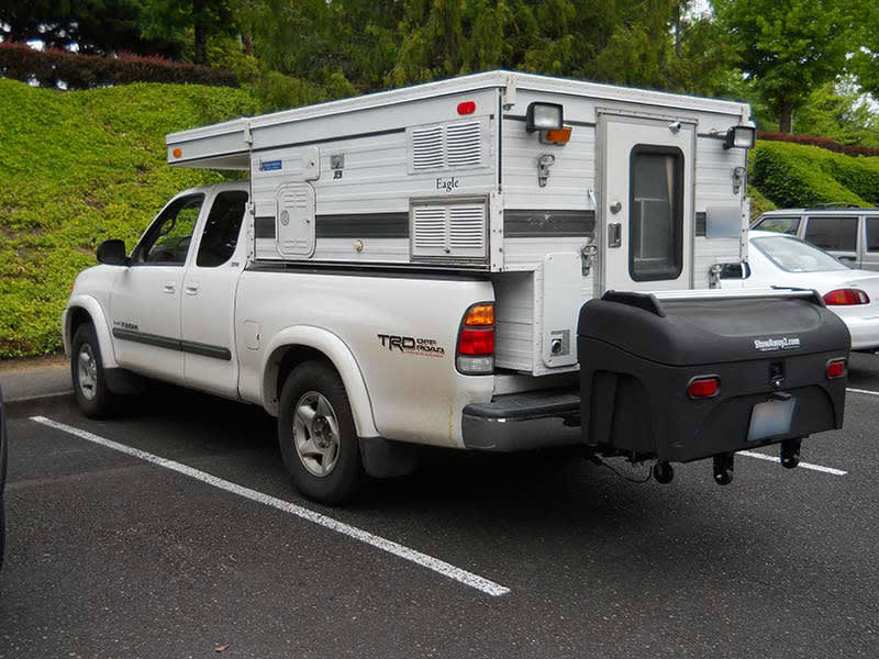 Eagle Camper with StowAway Standard Cargo Carrier