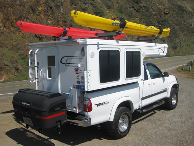 Hallmark Camper with StowAway MAX Cargo Carrier