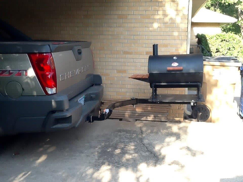 chevy pick up truck with swingaway frame and grill
