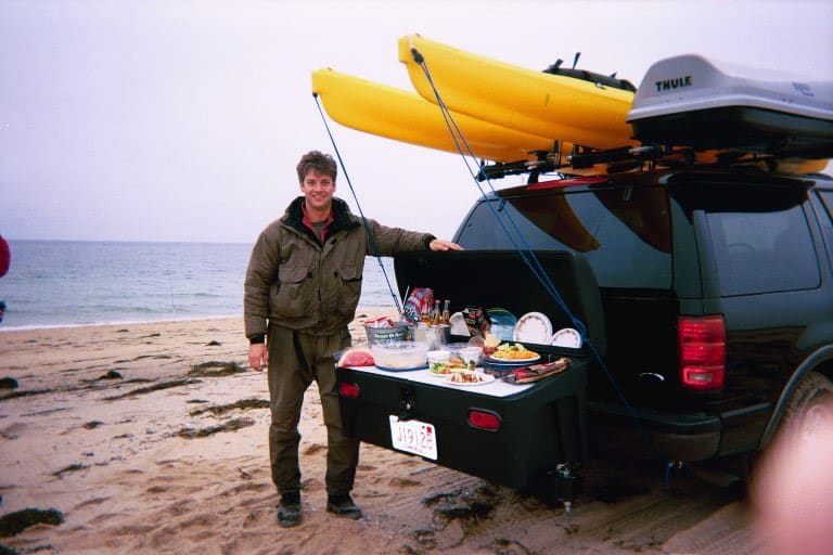 Ford Expedition with StowAway Carrier-Beach Picnic