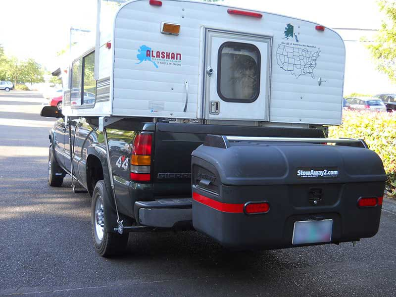 Alaskan Camper with StowAway MAX Cargo Carrier