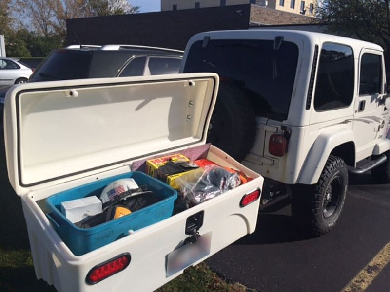 Jeep Wrangler with StowAway Standard Cargo Carrier