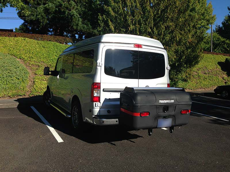 Nissan NV Passenger with StowAway MAX Cargo Carrier