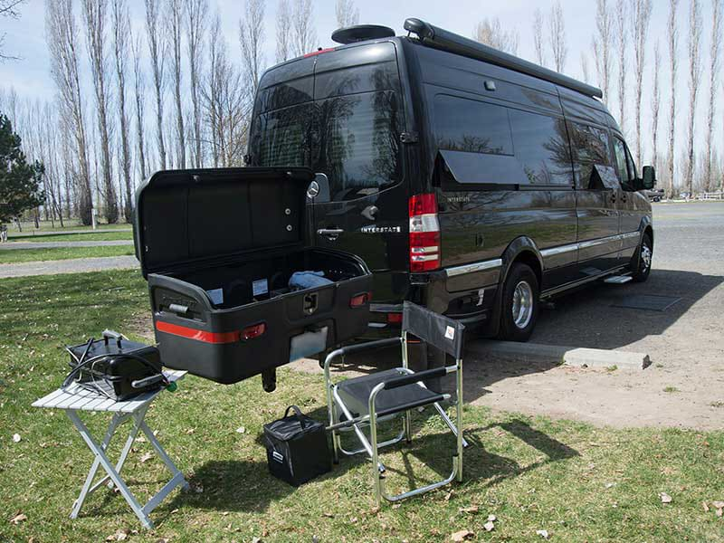 Airstream RV with StowAway MAX Cargo Carrier