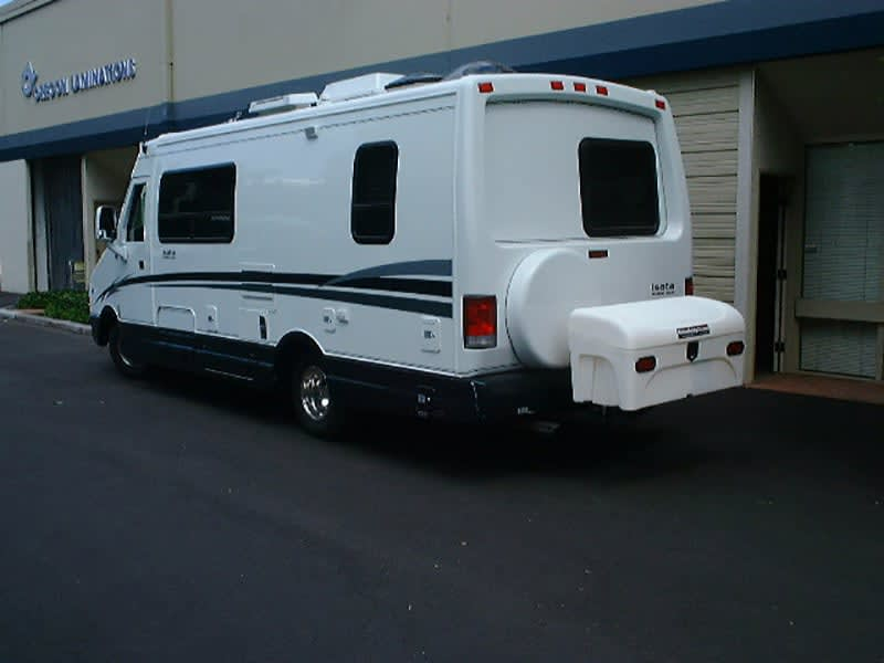 Isata RV with StowAway Standard Cargo Carrier