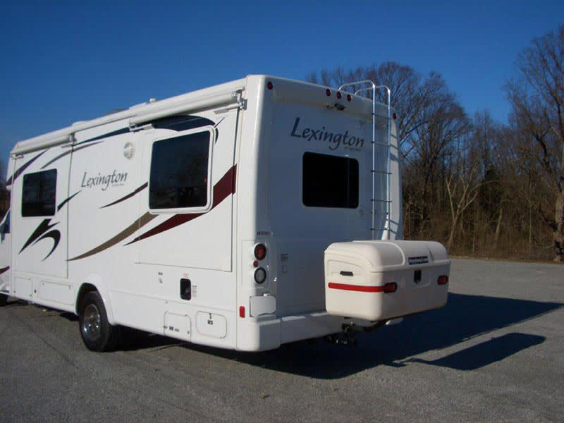 Lexington RV with StowAway MAX Cargo Carrier