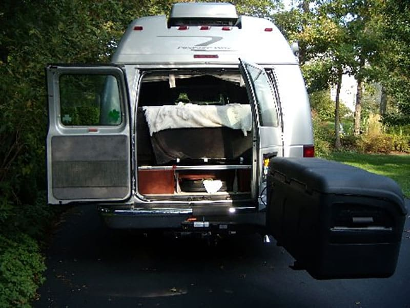 Pleasure-Way RV wth StowAway MAX Cargo Carrier