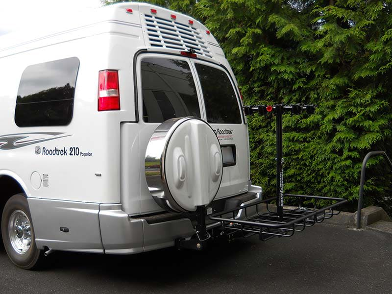 Roadtrek RV with StowAway Bike & Cargo Rack on SwingAway Frame
