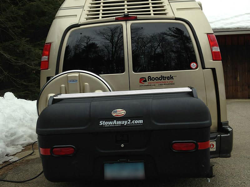 Roadtrek RV with StowAway MAX Cargo Carrier