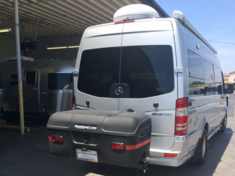 Sprinter RV with StowAway MAX Cargo Carrier