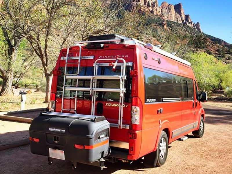 Winnebago RV with StowAway MAX Cargo Carrier
