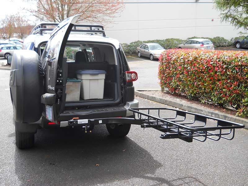 Toyota FJ Cruiser with StowAway Cargo Rack on SwingAway Frame