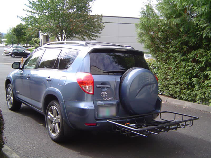 Toyota Rav4 with StowAway Cargo Rack on SwingAway Frame