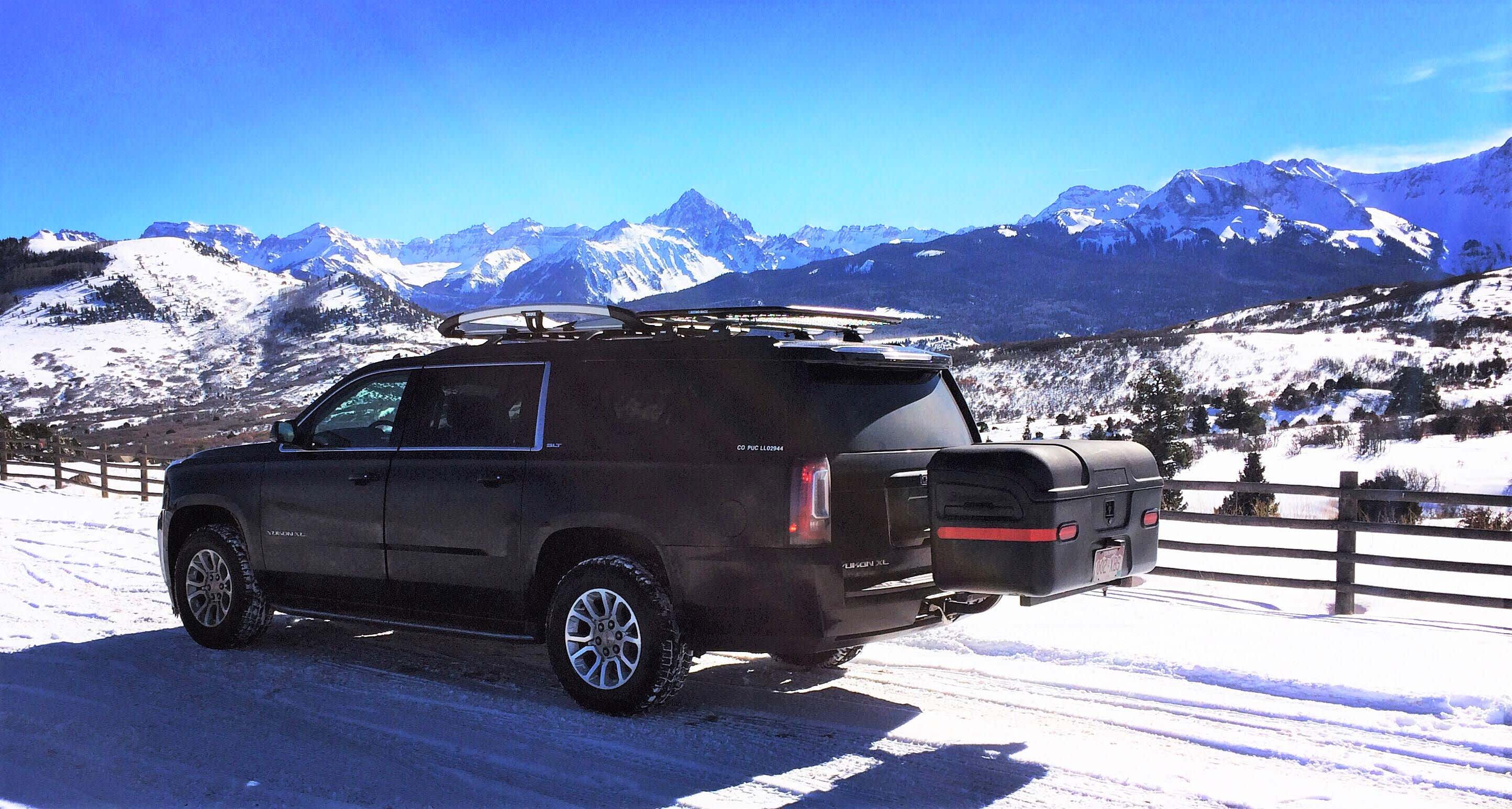 GMC Yukon with max carrier in telluride