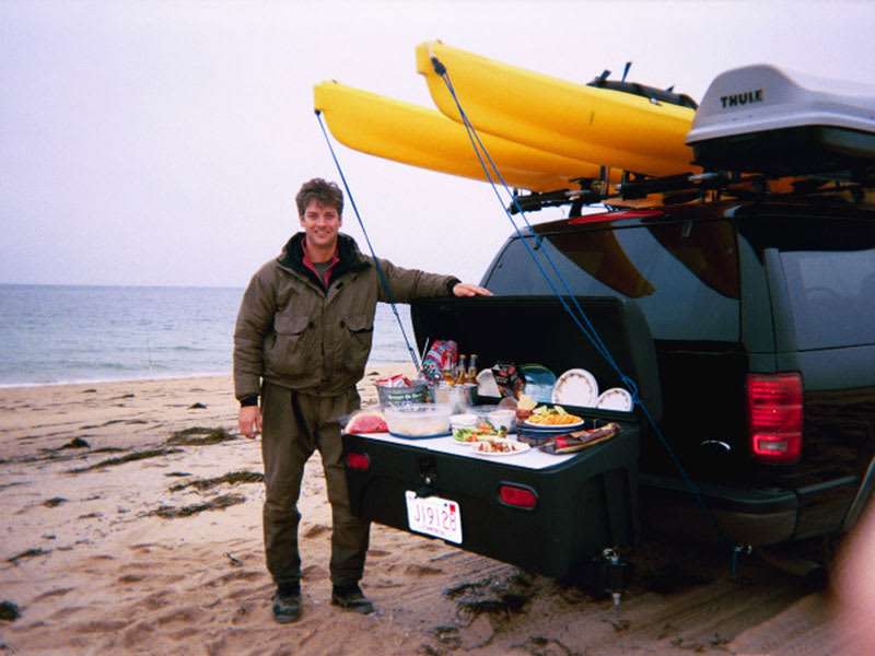 Ford Expedition with Stowaway Carrier at Beach Picnic