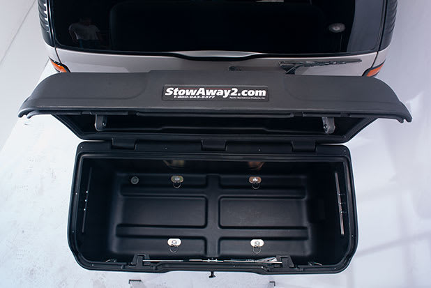 StowAway box open and spacious